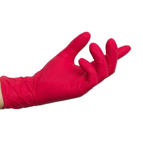 Nitrilhandschuhe Red, Rote Einmalhandschuhe, 100 Stück