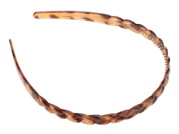 Haarreif mit Flechtoptik, braun