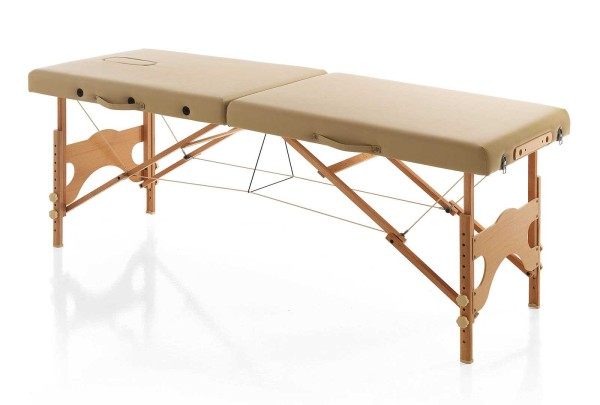 Tragbare mobile Kosmetikliege, Holz beige, klappbare Leicht 13kg, Tragkr. max. 204kg