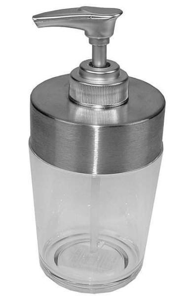 Seifenspender, Edelstahl mit Acryl-Pumpe. Pflegeleichter Flüssigseifenspender, 250ml