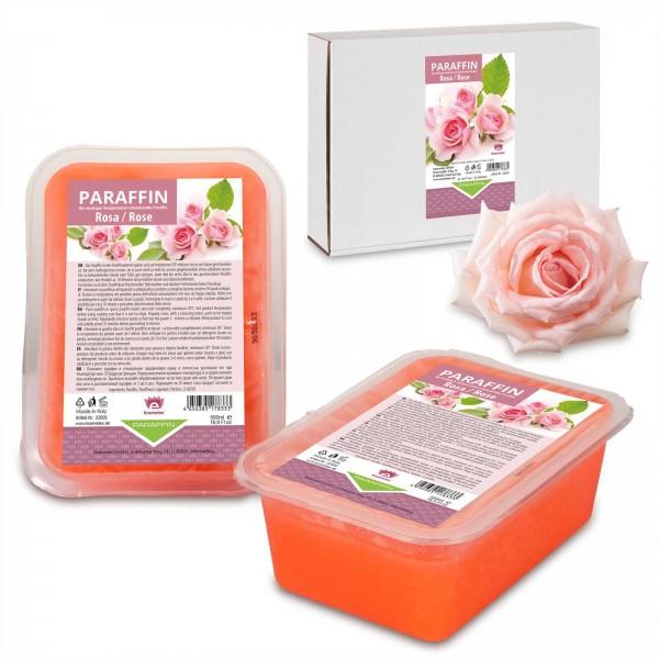Kosmetex Paraffinbad, Paraffin-wachs mit niedrigeren Schmelzpunkt, Rosa Rose, 2 x 500ml