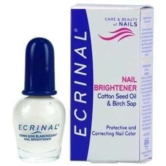 Ecrinal Nail Brightener, Aufhellender Pflegelack, glättet und schützt die Nägel, 10ml