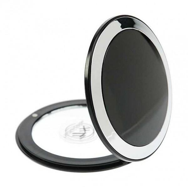 Taschen-Spiegel mit 7-fach Vergrößerung und Magnetverschluss, Ø 8.5 cm