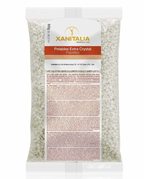 Xanitalia Extra White Wachsperlen Pelable EXTRA Crystal, 800g