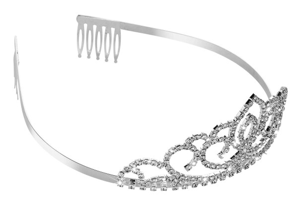 Diadem Tiara mit Strasssteinen, Kristall Stirnband Krone