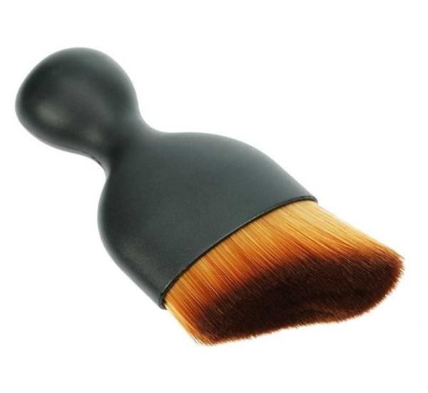 Kontur Rouge Puderpinsel mit Kappe, schrägen Haar, Rougepinsel f. Reise, Tasche mit superdichtem, we