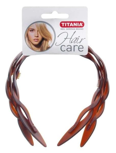 Haarreif, Haarschutzreifen, Kosmetik Haarreifen in Braun mit Zopfmuster