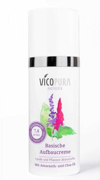 VICOPURA 24 Std. Aufbaucreme, basisch, pH 7.4, Basencreme die Aufbaut, Tagescreme und Nachtcreme