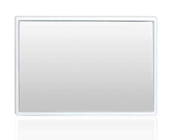 Eckiger kleiner Taschen-Spiegel - Handspiegel, Kosmetex Spiegel mit Kunststoff Korpus, verschiedene