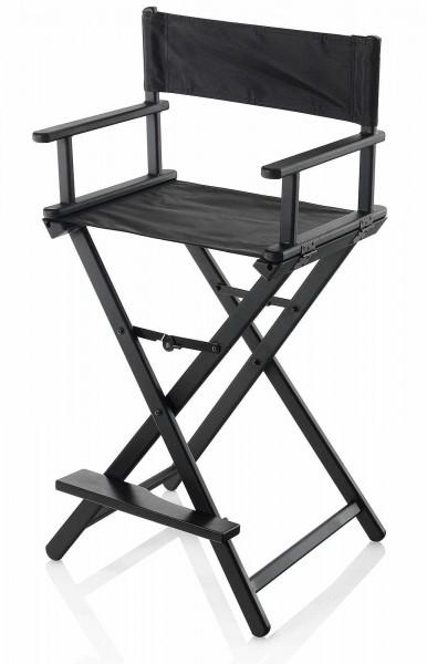 Make-UP Stuhl aus Holz schwarz mit komfortabler Fußstütze