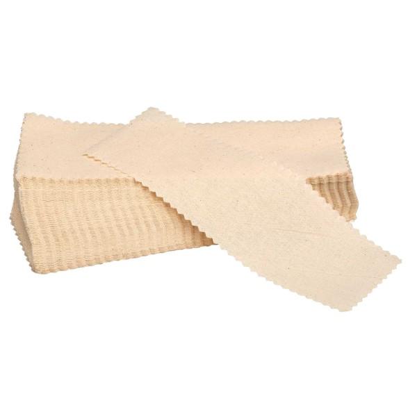 100x Natur Baumwoll Vliesstreifen 20x7 cm für Sugaring oder Waxing