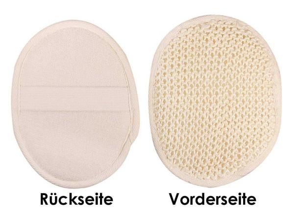 Sisal Massagepad Kosmetex für intensives Peeling und Massage, Hand Peelingpad, Massagehandschuh