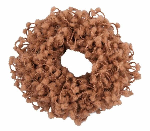 Haargummi Set, 2 Stück, breit, aus Frottee, Braun ohne Metall
