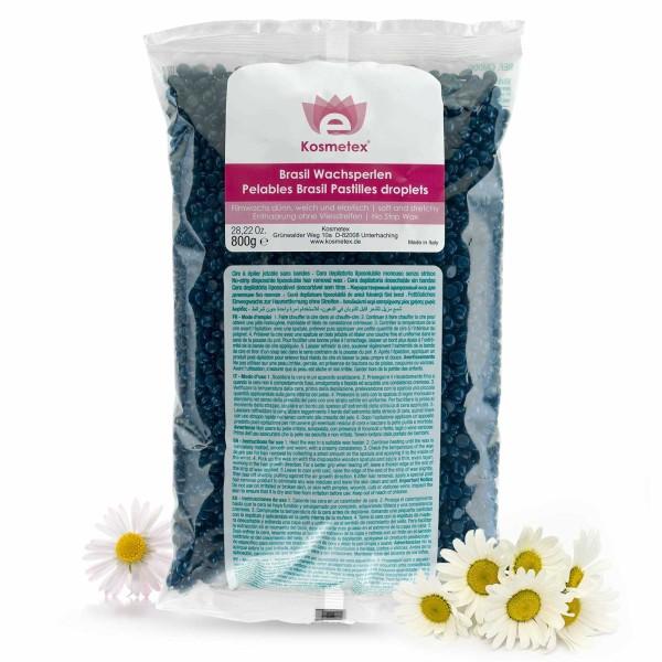 Kosmetex Brasil Niedrigtemperatur Wachsperlen Azulen, dünn, weich, flexibel, Film-Wachs für soft and