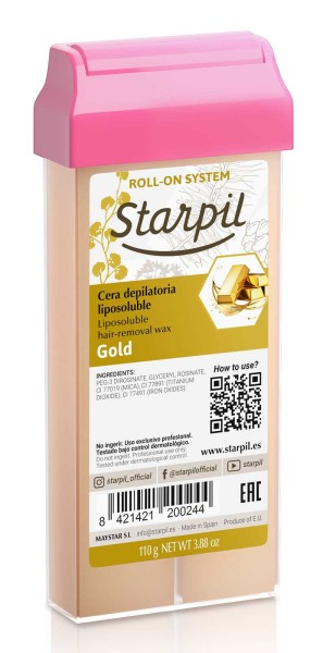 Starpil Wachspatrone Gold mit Pigmenten, 110g