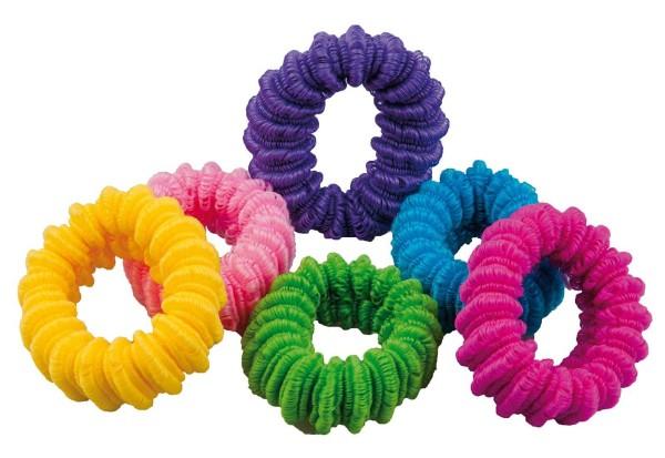 6x Haargummi, groß, breit 6 div. Farben für viele Frisuren