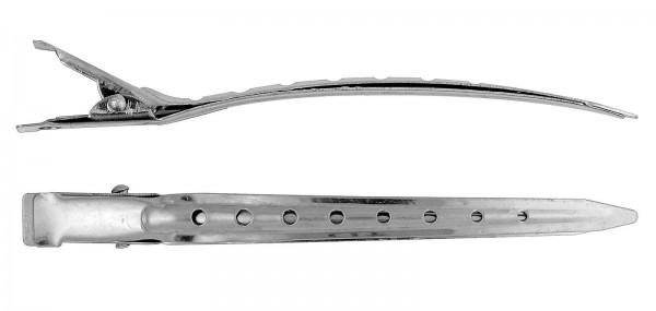 12x Haarspangen, 8 cm Stahl Haarklammern, Abteil Haarclips