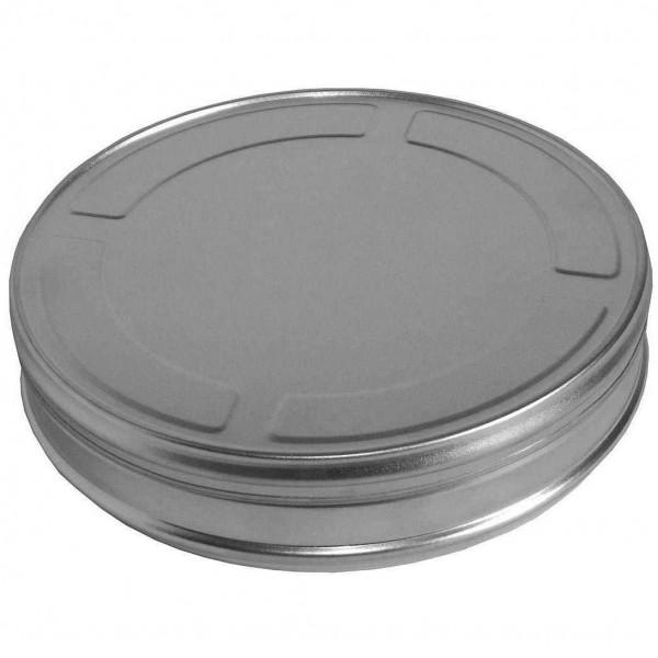Filmdose Ø 18 cm aus Aluminium, Silber Kosmetex Filmrollen-Dose im Hollywood Style