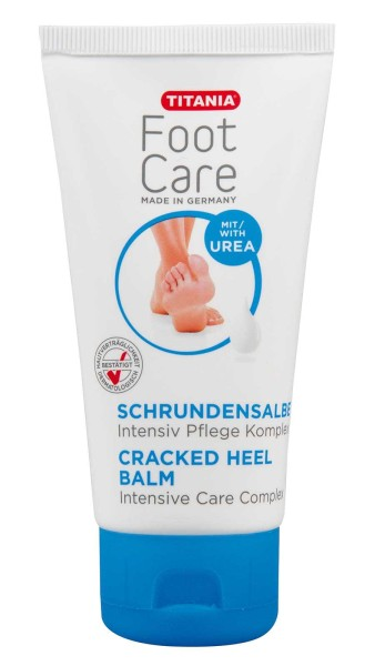 Titania Schrundensalbe, intensive Pflege, Fußcreme, für trockene, rissige Haut bei Schrunden, Fusspf