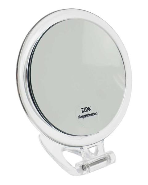 Stand-und Handspiegel- mit 20-fach Vergrößerung, 2 Spiegelflächen, Kosmetik-Spiegel