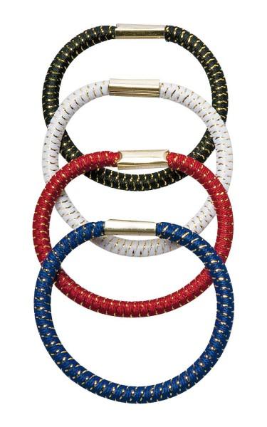 Haargummi Set, 4 Stck., groß, breit 4 div. Farben für viele Frisuren.