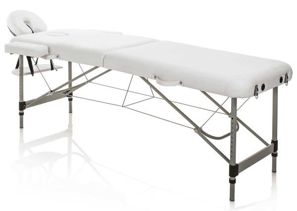 Klappbare mobile Kosmetikliege, Master Aluminium weiß, Leicht & tragbare nur 13kg, mit Tragetasche
