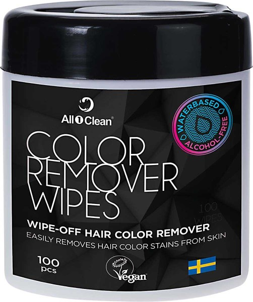 All1Clean Haar Farbentfernung Tücher Vegan, 14 x 9 cm, 100 Stück