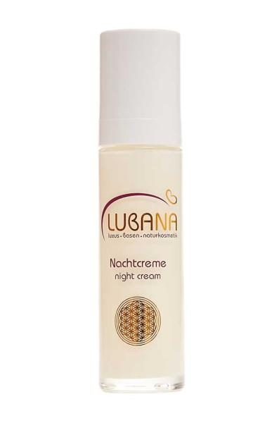 LUBANA basische Nachtcreme pH 7,6, ohne Silikone, Nachtpflegecreme, Basencreme spendet Feuchtigkeit,