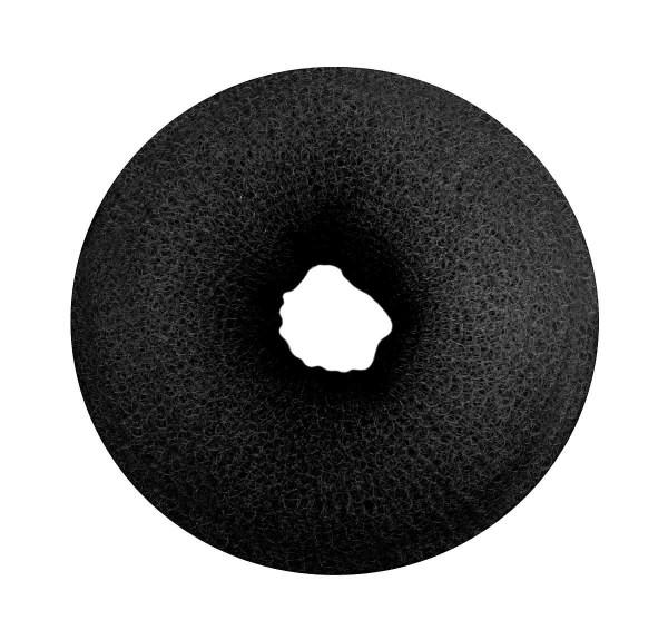 Haarkissen Ø 8cm, Duttkissen, Donut-Form, Haarring aus Frottee, schwarz