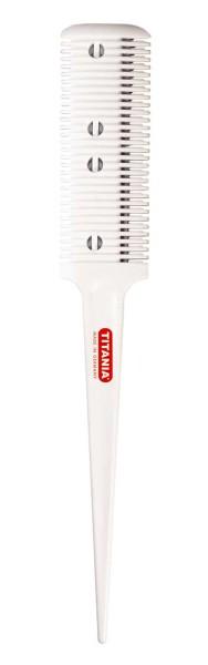 TITANIA Spezial Haar Effilierer, Circa 20 cm, weiß