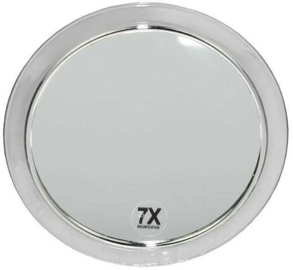 Kosmetik-Spiegel mit 7-fach Vergrößerung und Saugnäpfen.