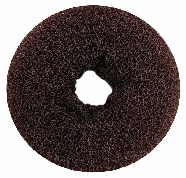 Haarkissen Ø 11cm, Duttkissen, Donut-Form, Haarring aus Frottee, braun