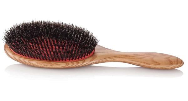 Haarbürste Natural 100% Wildschwein-Borste Bürste, Holzgriff, Groß 24.5 x 8 cm