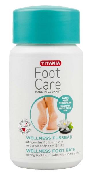 Titania Wellness Fussbad, Fußbadesalz, Reinigungsbad, Fußpflege, für beanspruchte, schwitzende Füße,
