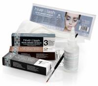 Hive Augenbrauen Färbe Starter Set, 7 tlg mit Wimpernfarbe Nr. 1, 2, 3, Entwickler, Pinsel, Anmischg