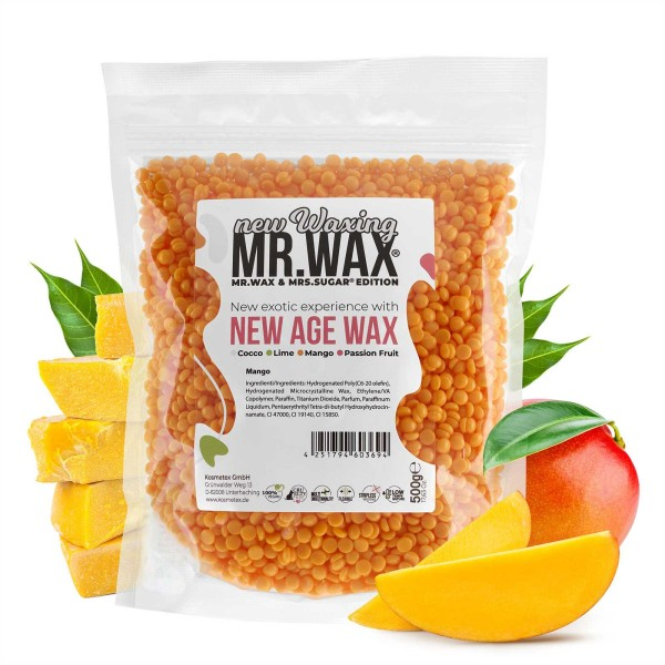 Mr. Wax Wachsperlen Mango New Age Wax, New Waxing, 500g