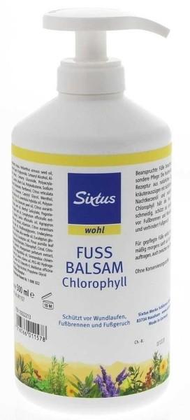 Sixtus Fussbalsam Chlorophyll mit Pumpspender, 500ml