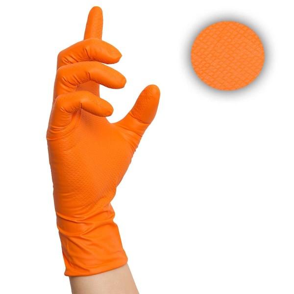Grip Nitrilhandschuhe Orange Arbeitshandschuhe, Einmalhandschuhe