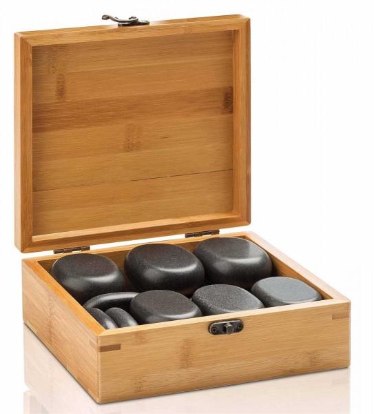Hot Stone Steine Set Mittel, für Massage und Therapie mit 18 Steinen