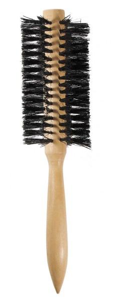 Haarbürste aus Holz, Rundbürste für dichtes, lockiges und langes Haar