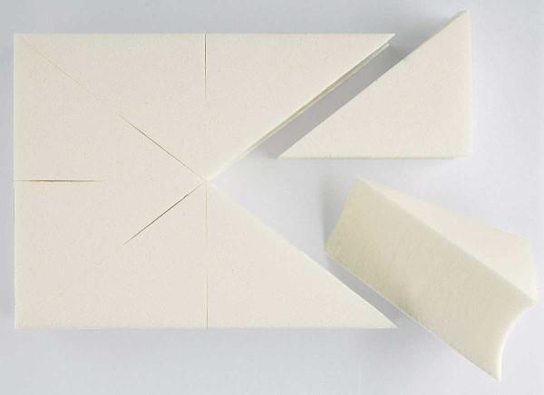 Make-up Schwämchen aus Latex 8x Dreiecke-weiß