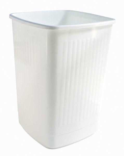 Weißer Papierkorb/ Abfallbehälter fürs Studio