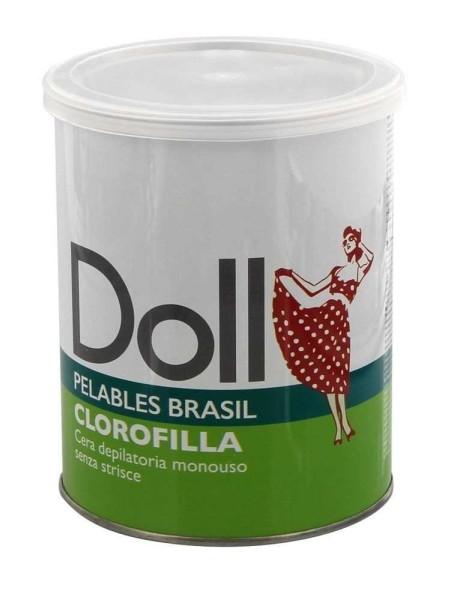 Chlorophyll Doll Wachs, Pelables Primo Wachsdose für flexibles Waxing ohne Vliesstreife, 800g