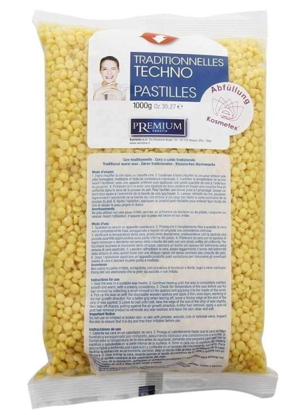 Xanitalia Techno Wachs-Perlen Argan für professionelles Waxing ohne Vliesstreife, 1000ml