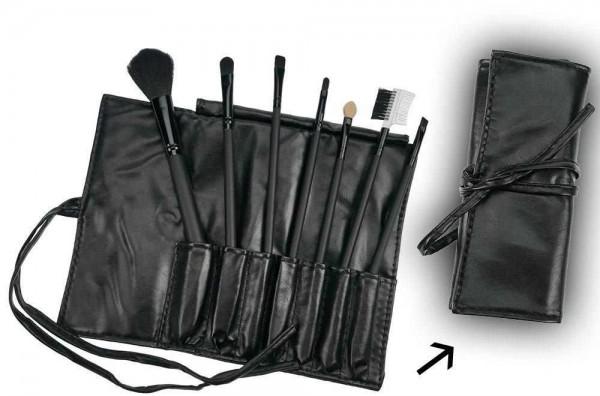 7-teiliges Kosmetik-Pinsel Set, Pinselset mit Tasche