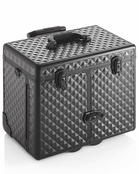 Black Diamond Hart-Friseurkoffer, Friseur Werkzeugkoffer, schwarz