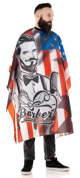 Männer-Haarschneideumhang -Wasserabweisende Polyester -Verstellbarer Verschluss mit 6 Knöpfen-Barber