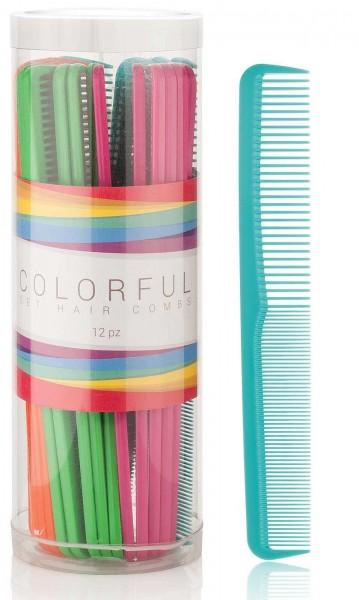 Haarschneidekamm 24er Set, in mehreren Farben