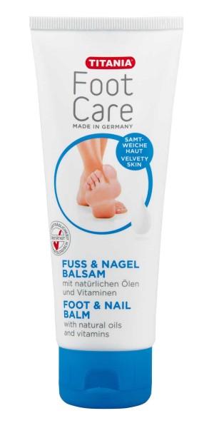 Titania Fuss und Nagel Balsam, Fußpflege, für trockene und sensible Haut, 100ml