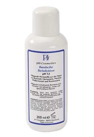Basische Beinlotion pH 7,5, bei brennenden, schweren, geschwollenen Beinen, Beincreme ph-Cosmetics,